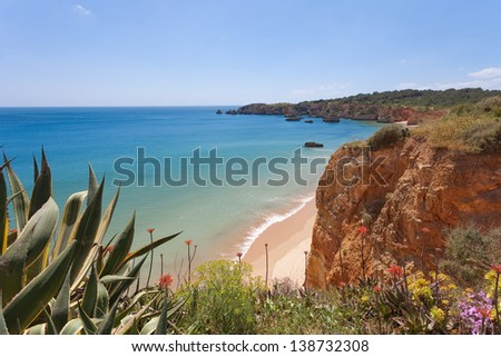 Portugal - Algarve - Praia do Vau - stock photo