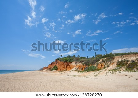 Portugal - Algarve - Vale do Lobo - Praia Garrao poente - stock photo