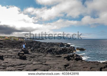Portugal, Azores, Pico island - stock photo