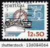 PORTUGAL - CIRCA 1983: a stamp printed in the Portugal shows Compasses, Old and New, circa 1983 - stock photo