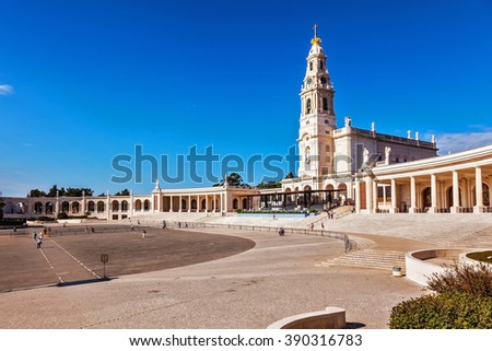 Portugal, City Fatima - Catholic pilgrimage center.  The magnificent cathedral complex and the Church
