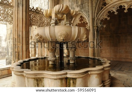 Portugal, cloister in the monastery of Batalha