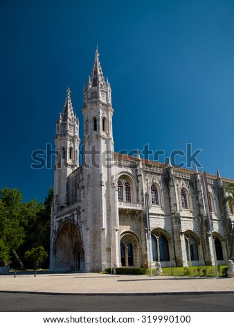 Portugal, details of Jeronimos monastery - stock photo