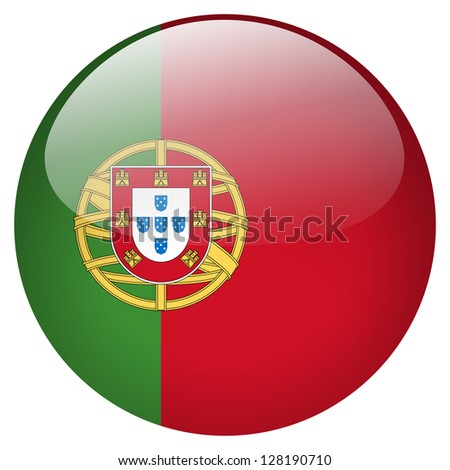 Portugal flag button - stock photo