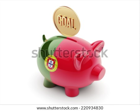 Portugal High Resolution Goal Concept High Resolution Piggy Concept