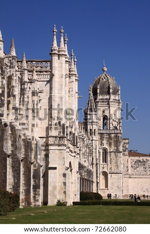 "Portugal Lisbon Belem  ""Hieronymites Monastery""  ""Mosteiro dos Jeronimos"" built in Manueline style - UNESCO World Heritage Site"