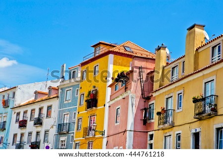 PORTUGAL  Old town of Lisbon, very popular among tourists in summer.