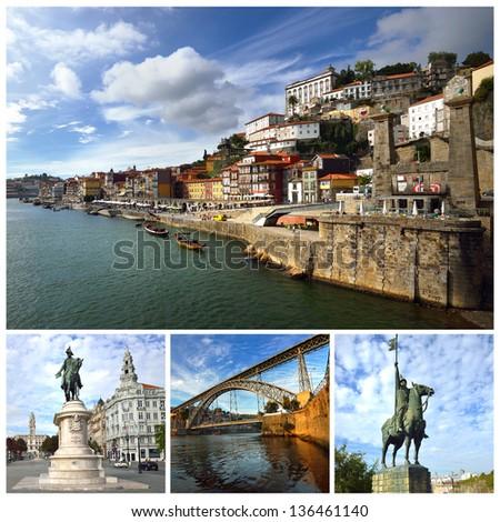 Portugal. Porto and Douro river - stock photo