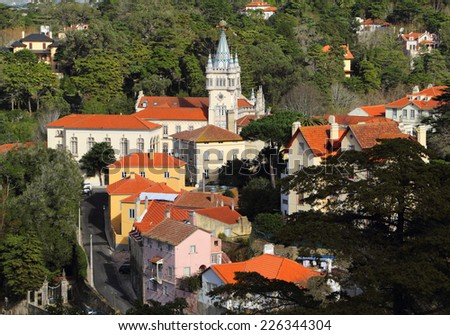"""Portugal, The """"Fairytale"""" town of Sintra, UNESCO World Heritage Site. - stock photo"""