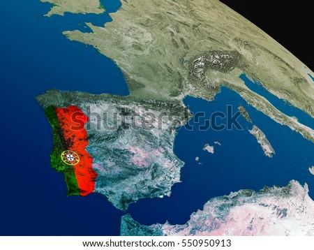Portugal Flag Stock Images RoyaltyFree Images Vectors - Portugal globe map