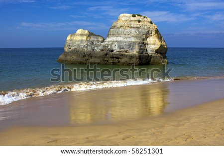 Portuguese Algarve beach, the south of the country
