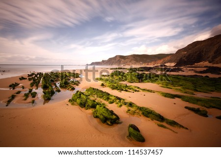 Portuguese Algarve coast, the south of the country (Vila do Bispo, Praia do Castelejo/Cordoama)