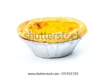 Portuguese Egg Tarts - stock photo