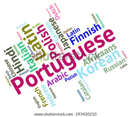 Portuguese Language Showing Translate Text And International