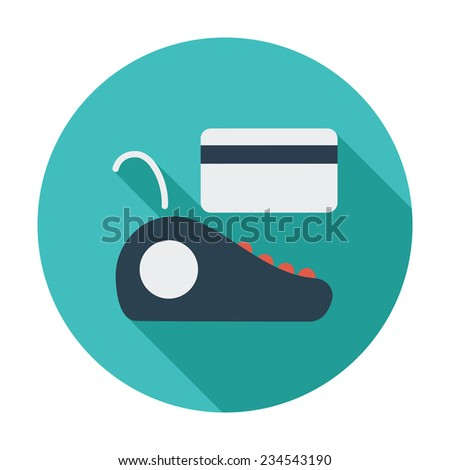 POS terminal. Single flat color icon.  illustration. - stock photo