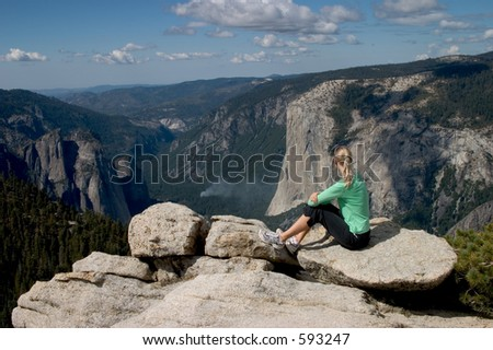 Posed composition from the top of Sentinel Dome, Yosemite NP