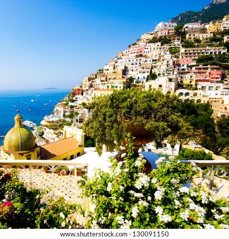 Positano, Amalfi Coast, Italy - stock photo