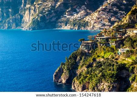 Positano, Amalfi Coast - Italy - stock photo