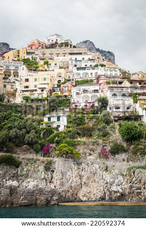 Positano, italy. Amalfi Coast and seascape
