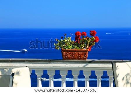 Positano on the Amalfi Coast, Italy, Europe - stock photo