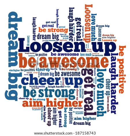 Positive attitude in word collage
