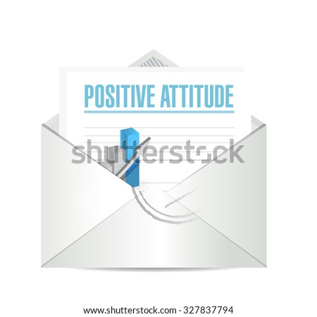 Positive attitude mail sign concept illustration design graphic