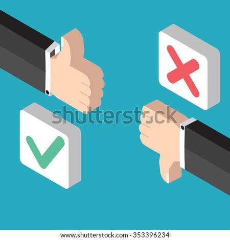 Positive feedback and negative feedback - stock photo