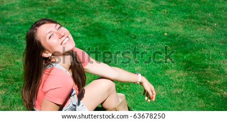 Positive girl on the street in summer