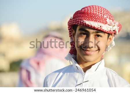 Positive Middle eastern young guy - stock photo