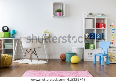 Positive Minimalist And Colorful Room For Kids And Teenagers