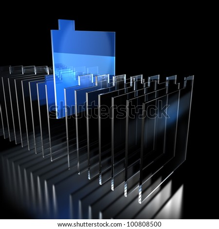 Positive reaction was detected,from the sample lined up. This is a computer generated image. - stock photo