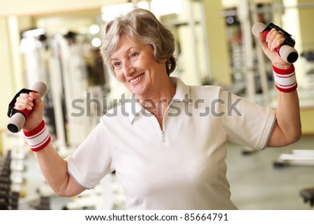 Positive senior woman living active life