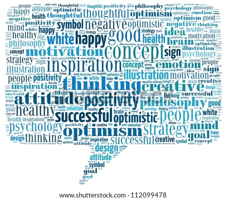 Positive Thinking info-text graphics and arrangement concept - stock photo