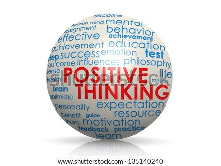 Positive thinking sphere - stock photo