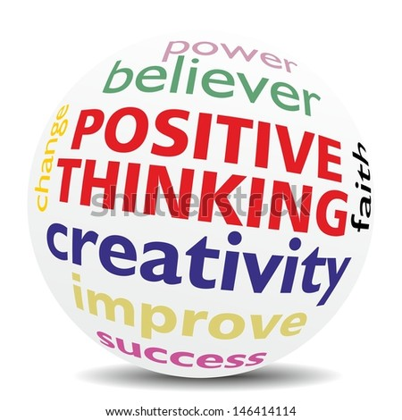 POSITIVE THINKING - wordcloud - SPHERE
