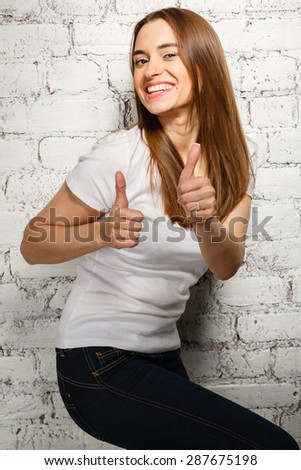 positive young girl in a good mood