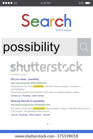 Possibility Possible Solution Achievable Ambition Concept - stock photo