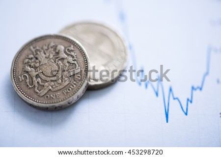 post Brexit financial loss on currency market - stock photo
