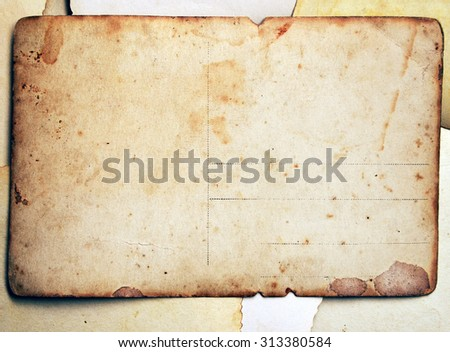 Post card - stock photo