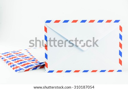 Post Envelope on White Background