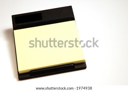 post it block on white background