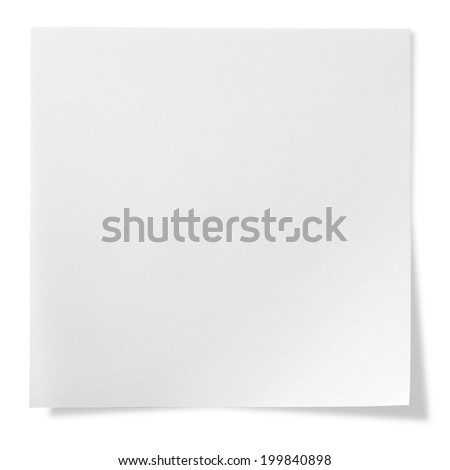 Post-it Note, Isolated on white with clipping path - stock photo
