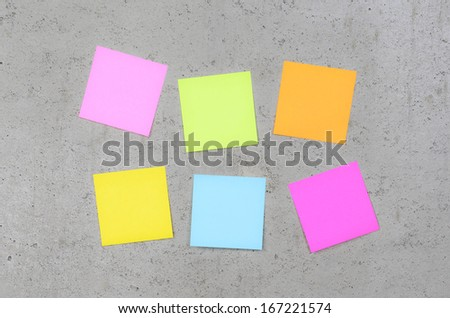 Post it on concrete wall