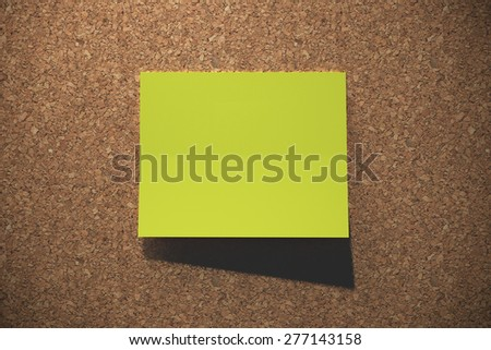 Post it on cork board - stock photo