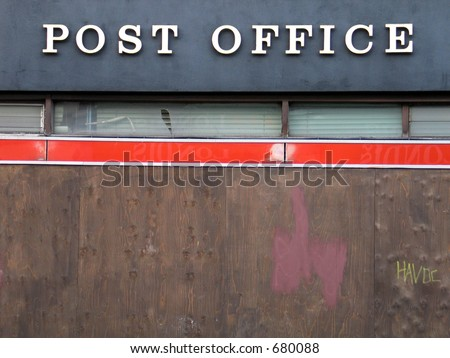 Post office - stock photo