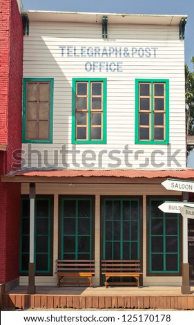 Post office in Wild West style - stock photo
