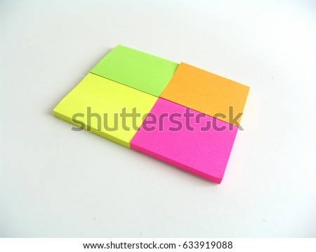 Post stick notes