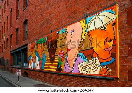 Post Street art mural - Seattle