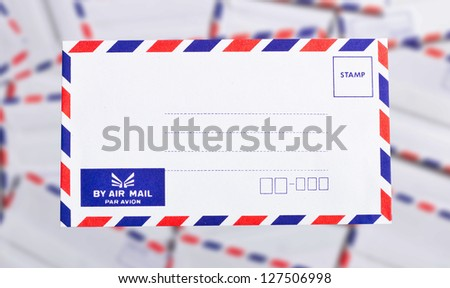 postal envelope on background. - stock photo