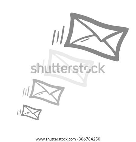 postal letter - stock photo
